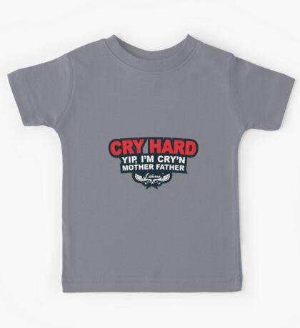 CRY HARD  Kids Tee