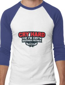 CRY HARD  Men's Baseball ¾ T-Shirt