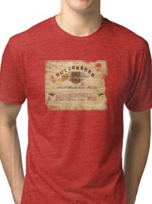 Butterbeer Label, The Three Broomsticks Tri-blend T-Shirt