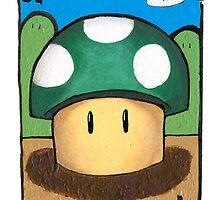 Mario 1up Mushroom by juiceboxfarley