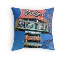 DeLux Motel Throw Pillow