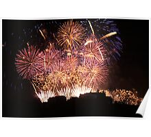 New Year Fireworks at Edinburgh Castle Poster