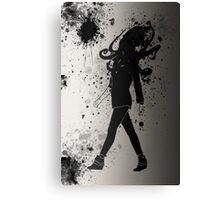 Black ink Canvas Print