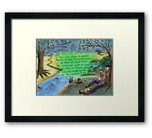 Down the River Framed Print