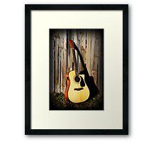 Fender guitar  Framed Print