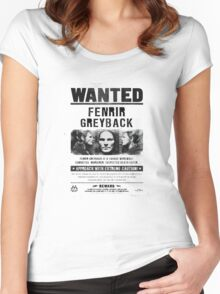 Fenrir Greyback Wanted Poster Women's Fitted Scoop T-Shirt