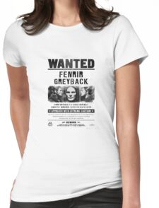 Fenrir Greyback Wanted Poster Womens Fitted T-Shirt