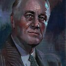 FDR  water color by Josef Rubinstein