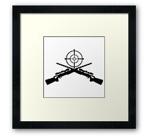 sniper target video game gamer Framed Print