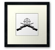 sniper target video game gamer Framed Print