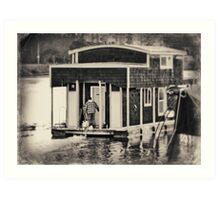 Houseboat Drive By Art Print