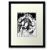 POWER !! pen and ink Framed Print