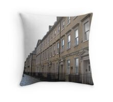 The Streets of Bath Throw Pillow