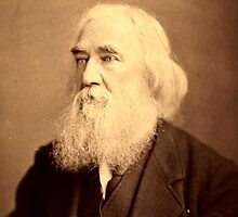 Lysander Spooner Portrait Anarchist Individualist by psmgop