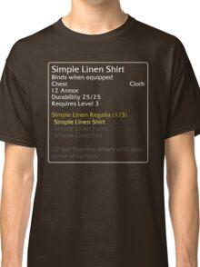 Simple Linen Shirt (set item) Classic T-Shirt