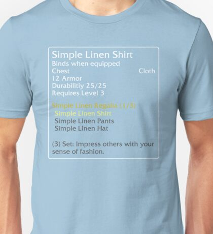Simple Linen Shirt (set item) Unisex T-Shirt