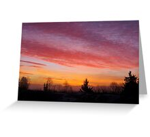 Sunrise January 20, 2013 Greeting Card