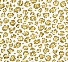 Glamorous Faux Sparkly Gold Leopard by Blkstrawberry