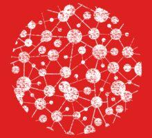 grunge molecular structure pattern Kids Clothes