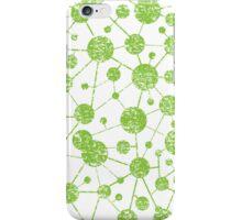 grunge molecular structure pattern iPhone Case/Skin