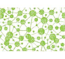 grunge molecular structure pattern Photographic Print
