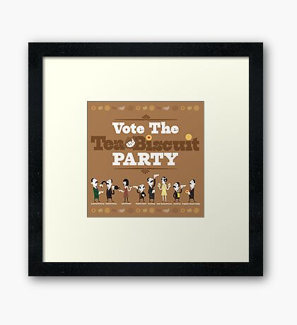 Vote the Tea & Biscuit Party Framed Print