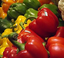 Colorful Peppers, Grand Central Terminal Food Market, New York City by lenspiro