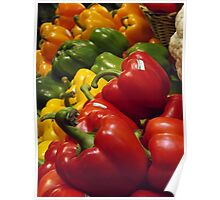 Colorful Peppers, Grand Central Terminal Food Market, New York City Poster