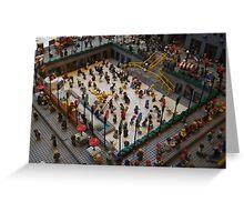 Lego Rockefeller Center Skating Rink, Lego Rockefeller Center Store, New York City  Greeting Card
