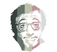 Woody Allen in stripes Photographic Print