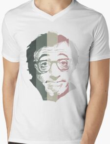 Woody Allen in stripes Mens V-Neck T-Shirt