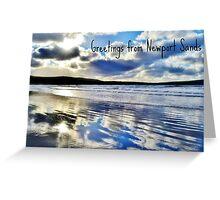 Newport Sands, Pembrokeshire - Postcard or Greeting Card Greeting Card