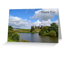 Caerphilly Castle - Thank You Card Greeting Card