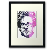 Tim Burton in stripes! Framed Print