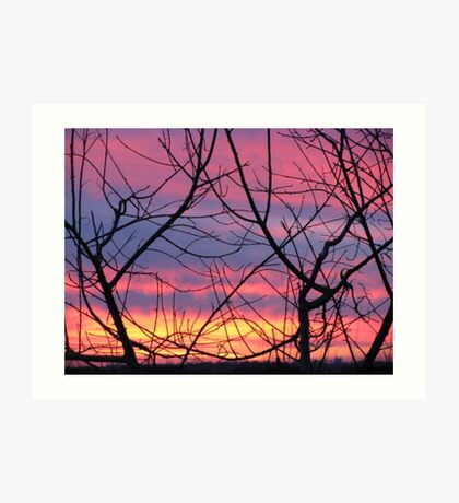 Colorful December Evening Art Print