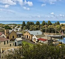 Flagstaff Hill Maritime Village - pan #1 by Roger Neal