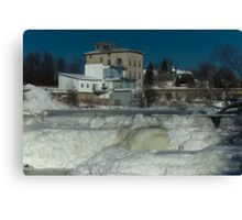 Almonte Ice Falls - Almonte, ON, Canada Canvas Print
