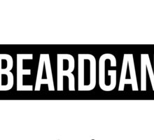 #BeardGang Half Beard Sticker