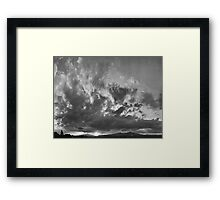 ©HCS Winter Sunset IA Monochrome Framed Print