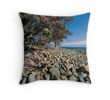 Pohutukawa Rocks Throw Pillow