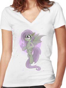 Flutterbat (My Little Pony: Friendship is Magic) Women's Fitted V-Neck T-Shirt