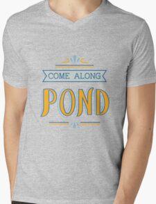Come Along Pond Mens V-Neck T-Shirt