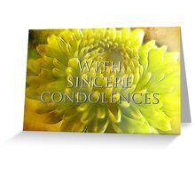 With Sincere Sympathy for Shirley Greeting Card