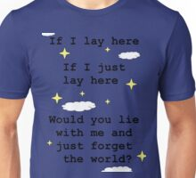 Chasing Cars Quote Unisex T-Shirt
