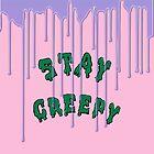 Stay Creepy (blue drip) by skyekathryn