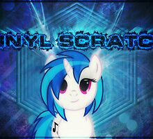 Vinyl Scratch [Poster + Phone / iPad Case] by Conner Nickels