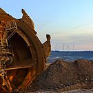 Alternative Power, Garzweiler ll, Germany. by David A. L. Davies