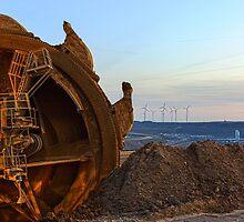 Alternative Power, Garzweiler ll, Germany. by David A. L. Davies