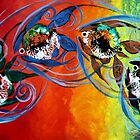COLORFUL, ABSTRACT FISH !!  FUN, Whimsical, UNIQUE, Original. by 17easels