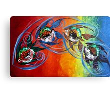 COLORFUL, ABSTRACT FISH !!  FUN, Whimsical, UNIQUE, Original. Metal Print